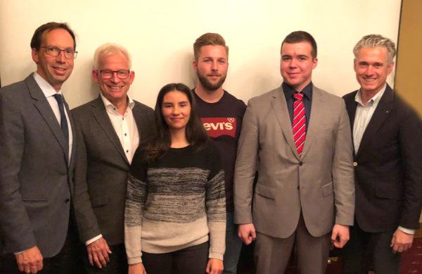 Die nominierten Kandidaten 2018 und die Vorstandsmitglieder der Stiftung des Rotary-Club Wesel-Dinslaken